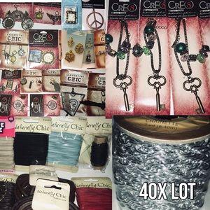 40x Charm Bracelet Chain Necklace Pendant Bulk Lot